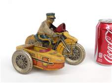 Marx Police Motorcycle Toy