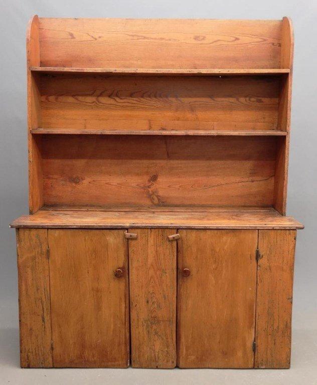 19th c. Pewter Cupboard