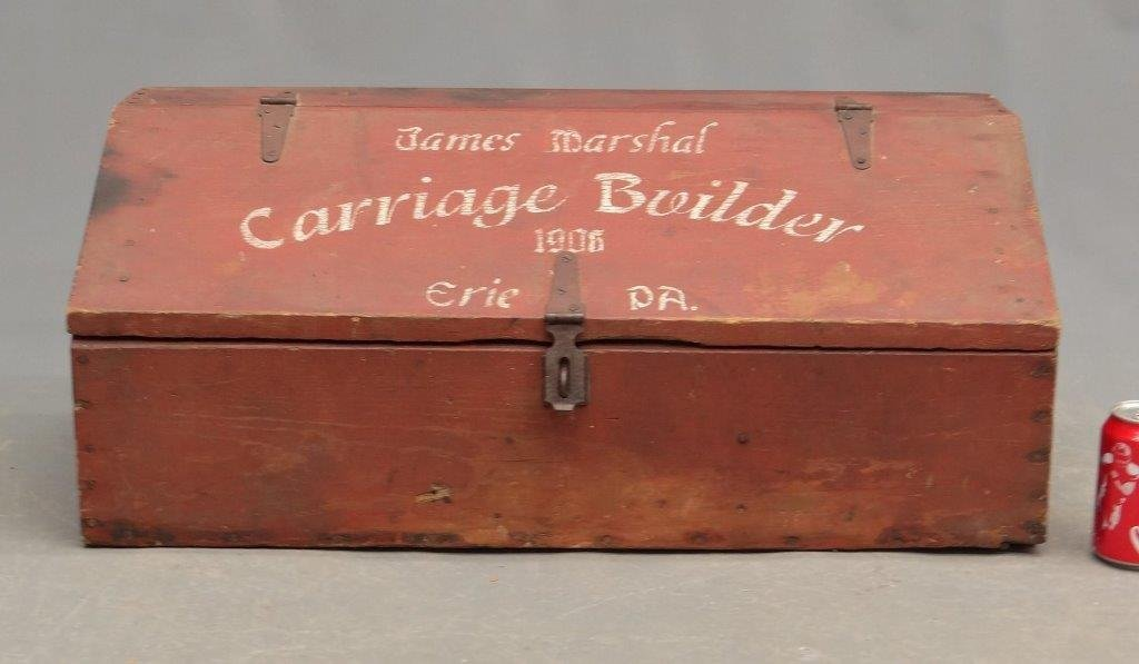 19th c. Carriage Builder's Trunk
