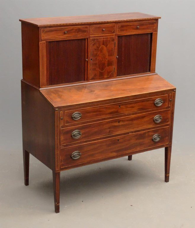 Hepplewhite Tambour Desk