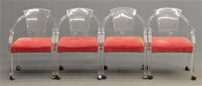 Set Of Mid Century Lucite Chairs