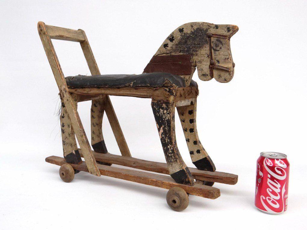Folk Art Child's Horse Toy