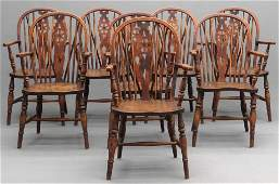 Set Of Eight English Windsor Chairs