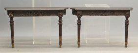 Pair Of English Console Tables