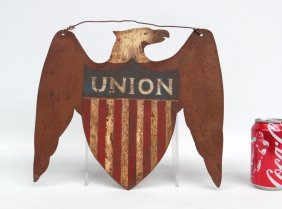 Patriotic Sheet Iron Eagle