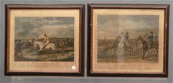 Pair 19th c Equestrian Prints