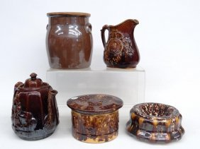 Rockingham Glaze & Bennington Pottery Lot