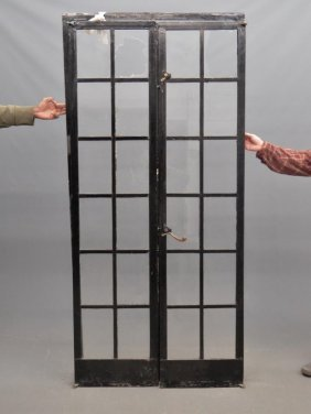 Pair French Iron Doors