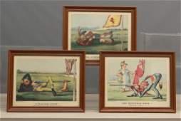 Vintage Currier And Ives Golf  Prints