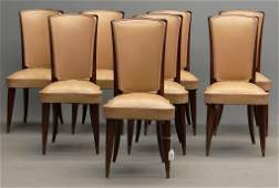 Set Of 8 French Chairs Attr To Jules Leleu