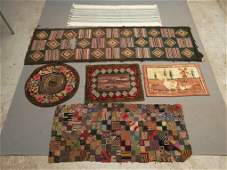 Hooked Rug Lot
