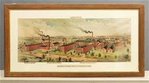 Columbia Bicycle Factory Lithograph Poster