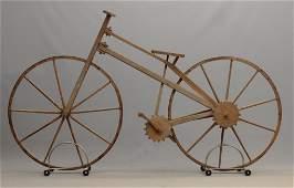 Primitive Wooden Bicycle
