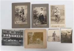 Early Bicycle Photo Lot