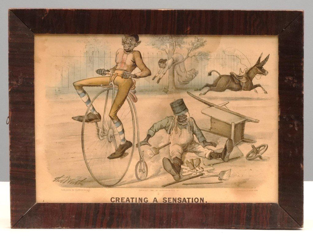 Currier And Ives Darktown Series Print