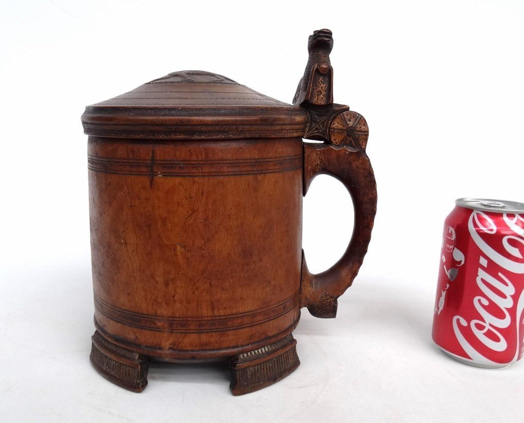 19th c. Carved Tankard