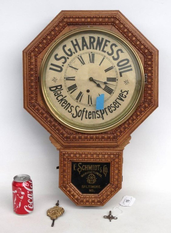 19th c. Advertising Wall Clock