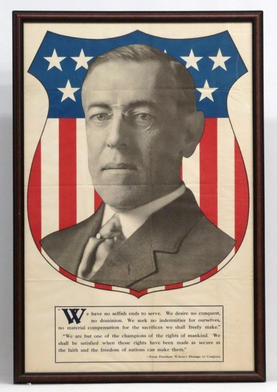 Woodrow Wilson Political Poster