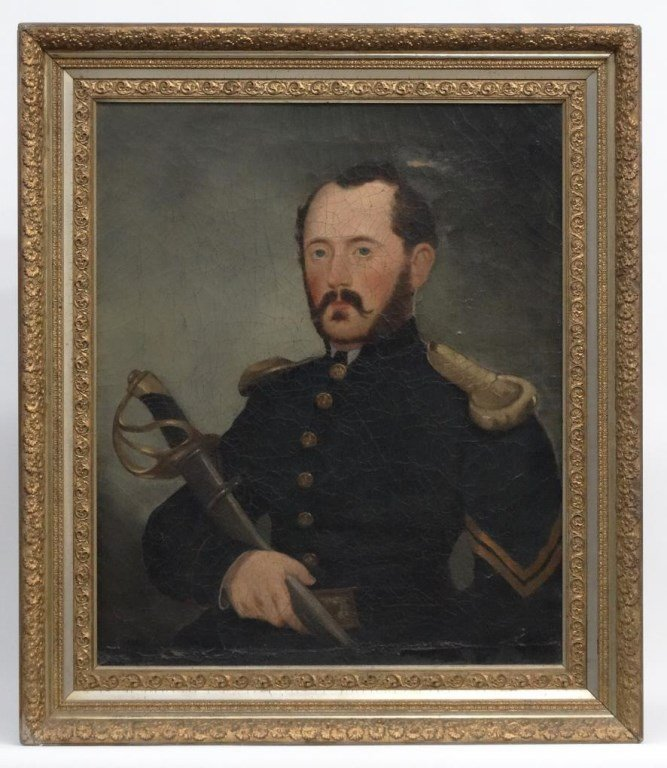 19th c. Portrait Of A Civil War Soldier
