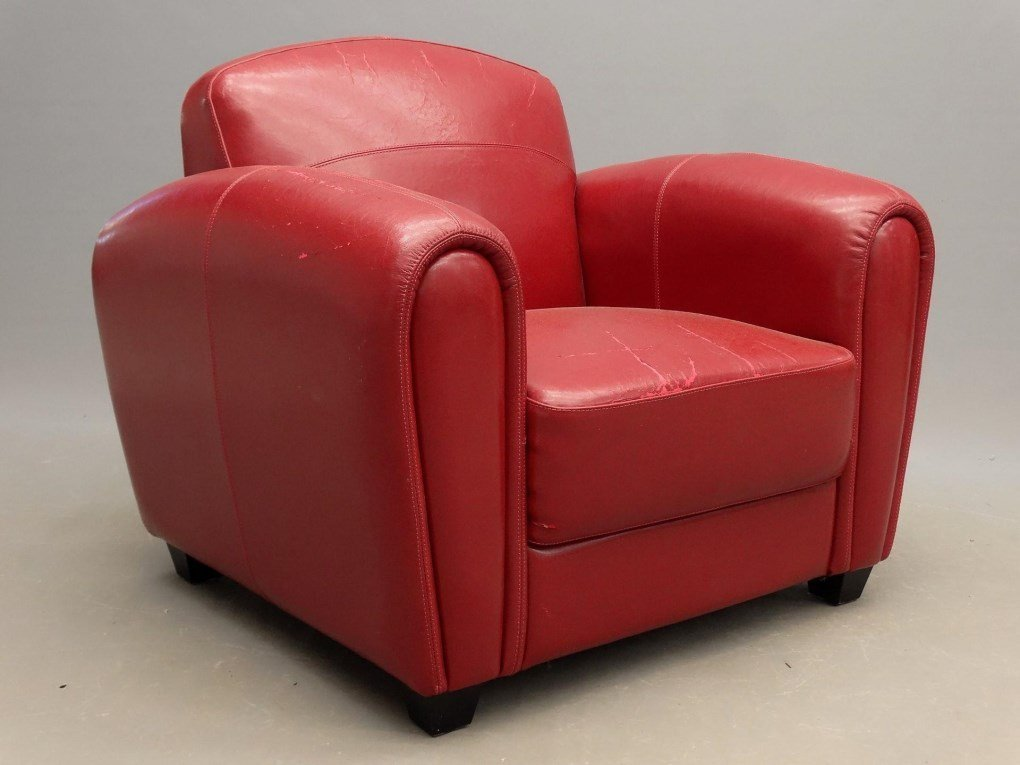 Pair Of Leather Club Chairs - 4