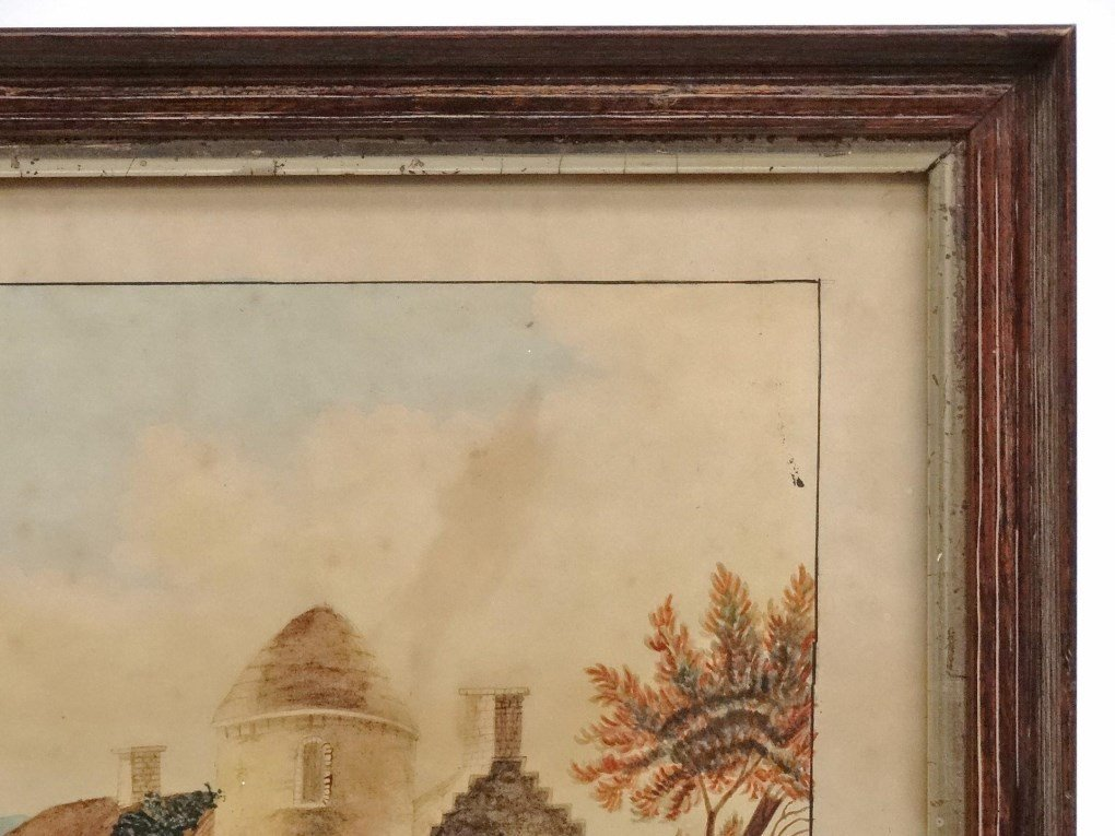 19th c. Hudson Valley Watercolor - 3
