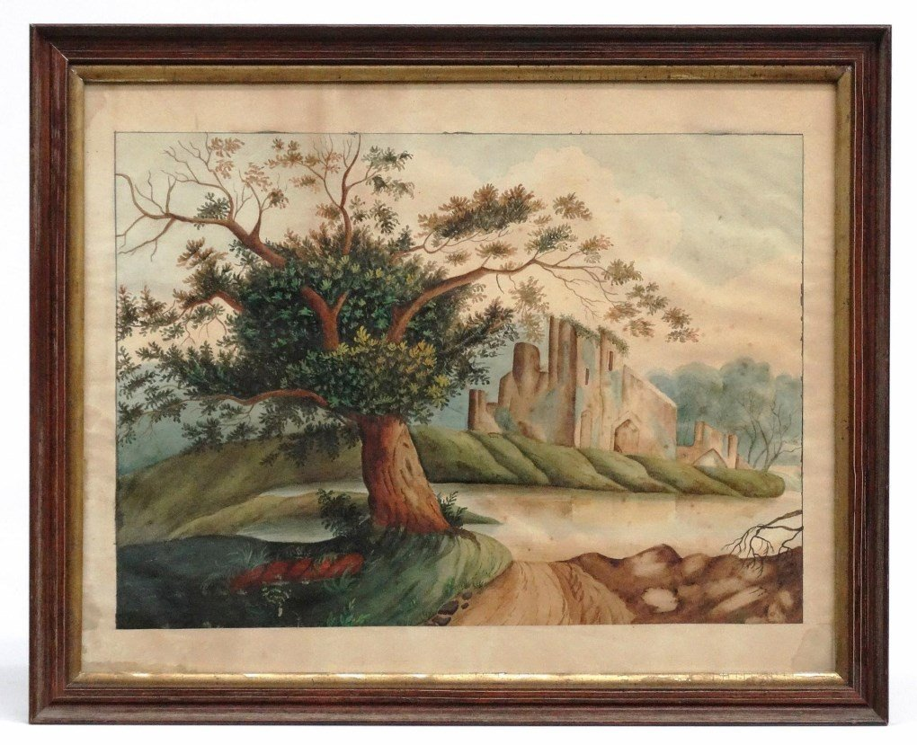 19th c. Hudson Valley Watercolor