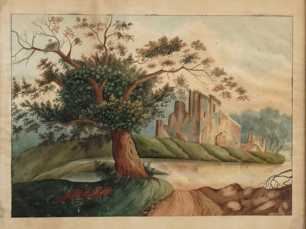 19th c. Hudson Valley Watercolor - 2