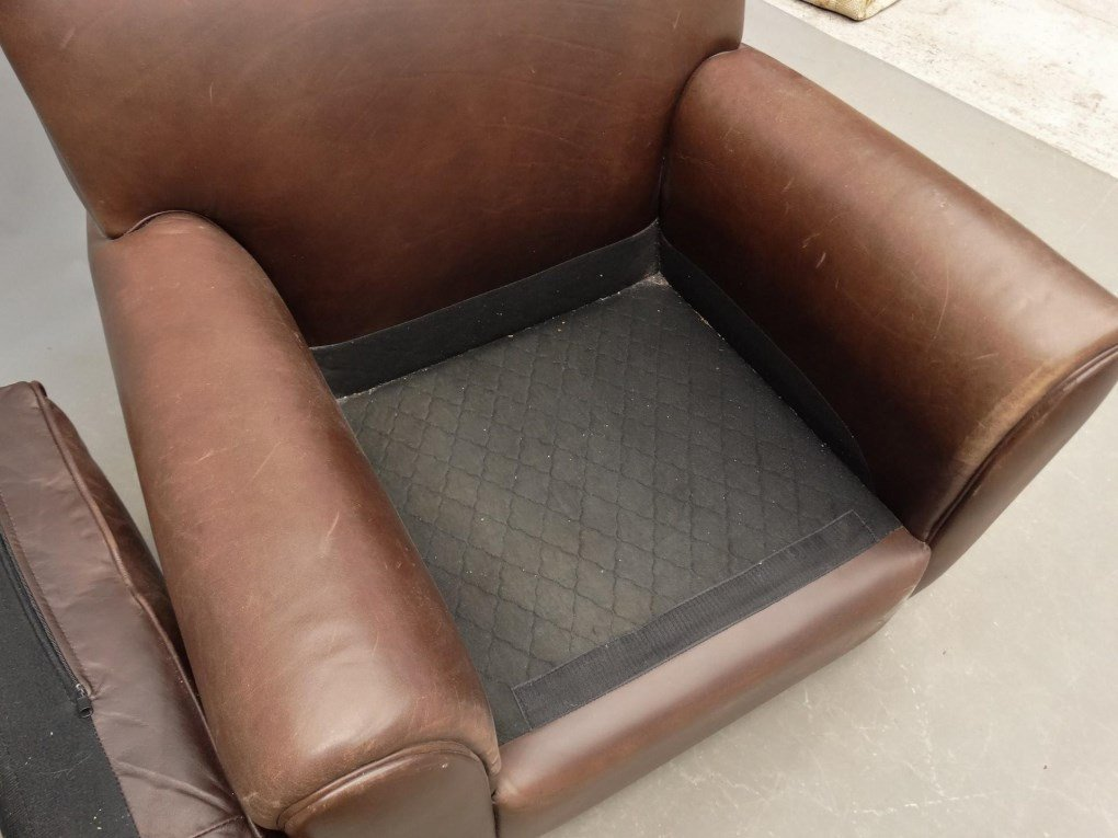 Leather Club Chair - 3