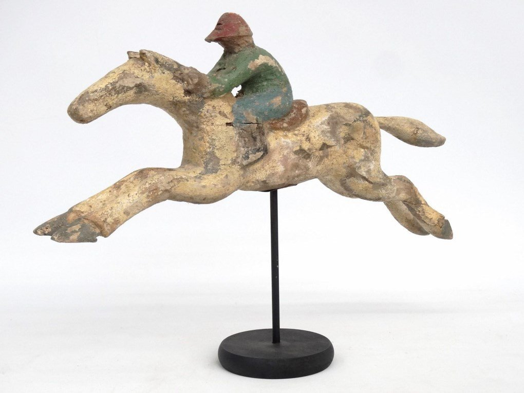 Folk Art Carved Horse - 2
