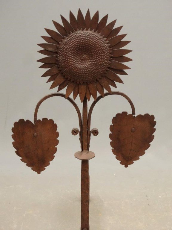 Pair Of Sunflower Andirons - 2