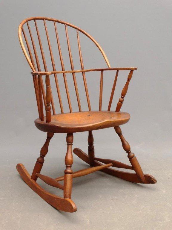 19th c. Windsor Rocking Chair