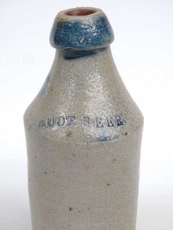 19th c. Stoneware Bottle - 2