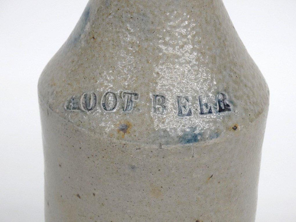 19th c. Stoneware Bottle - 3
