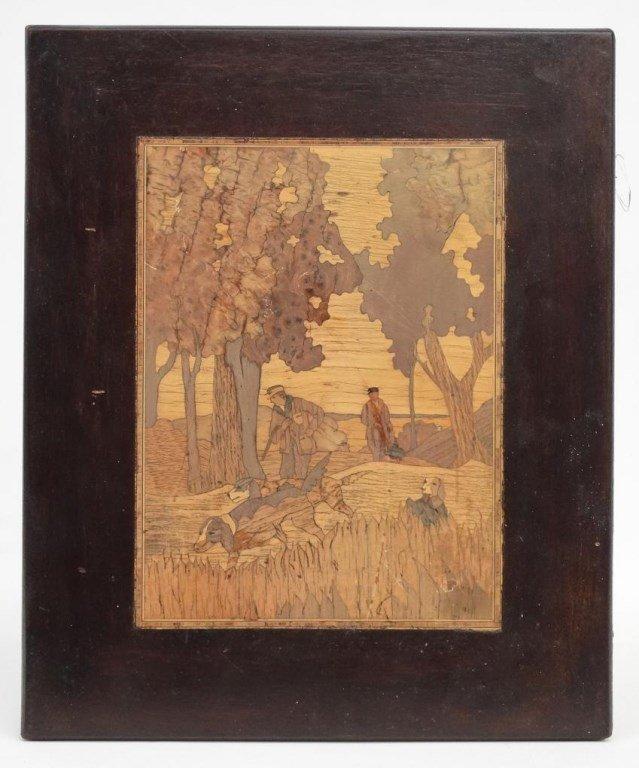 Inlaid Wooden Plaque