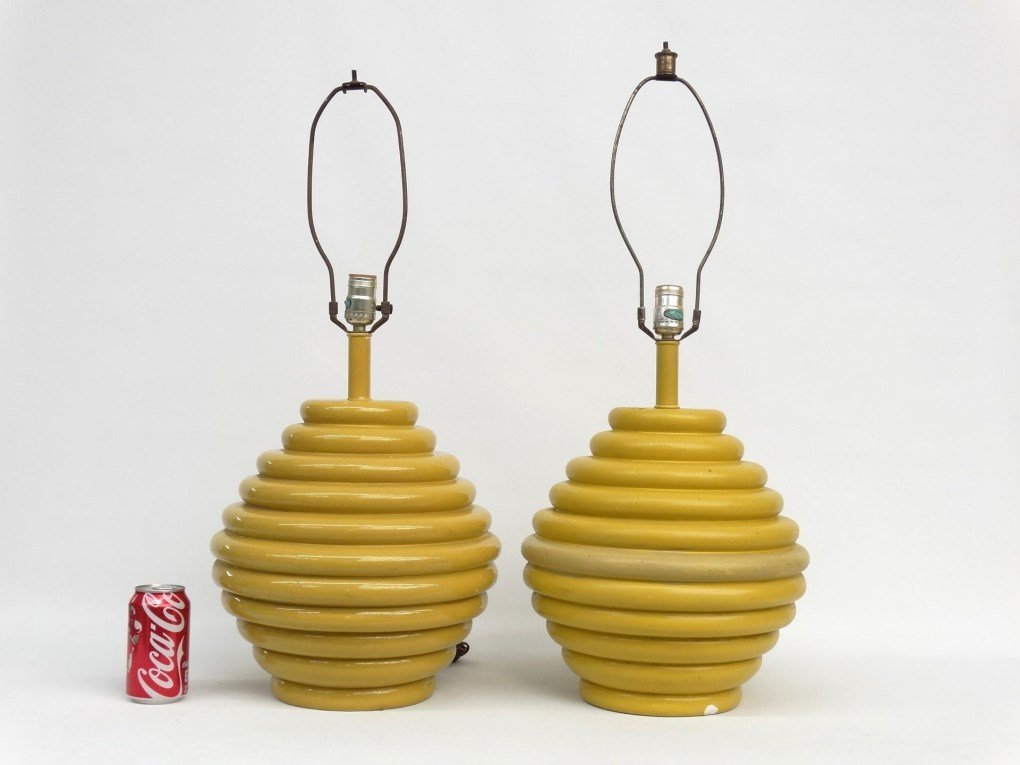 Pair Of Moderne Lamps