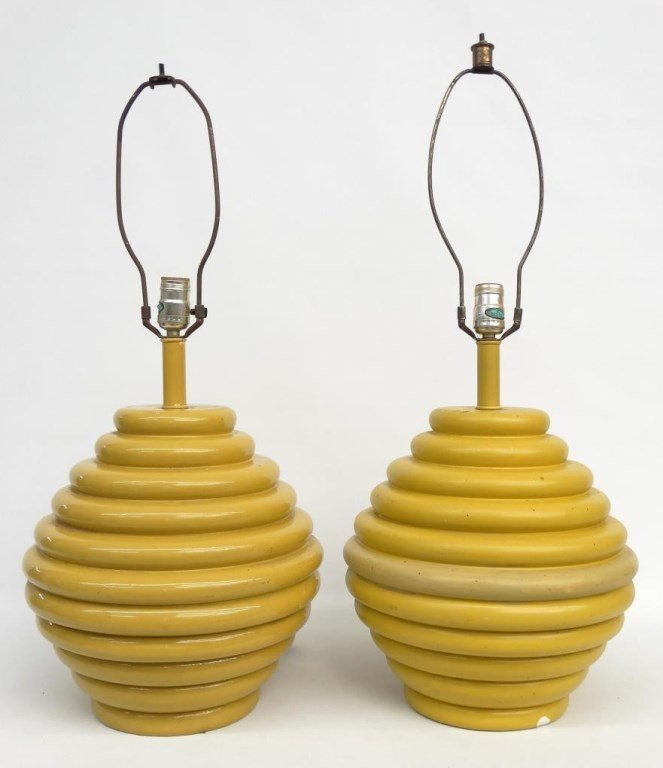 Pair Of Moderne Lamps - 2