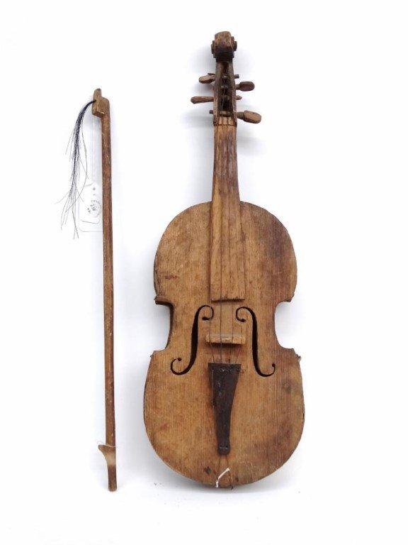 Folk Art Violin - 4