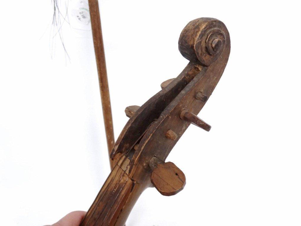 Folk Art Violin - 5