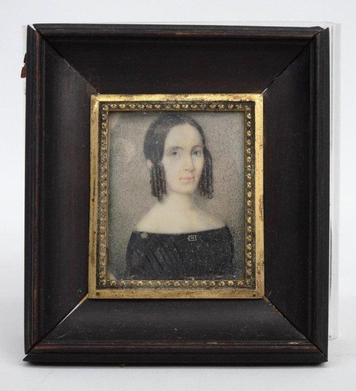 Pair 19th c. Miniature Portraits - 2