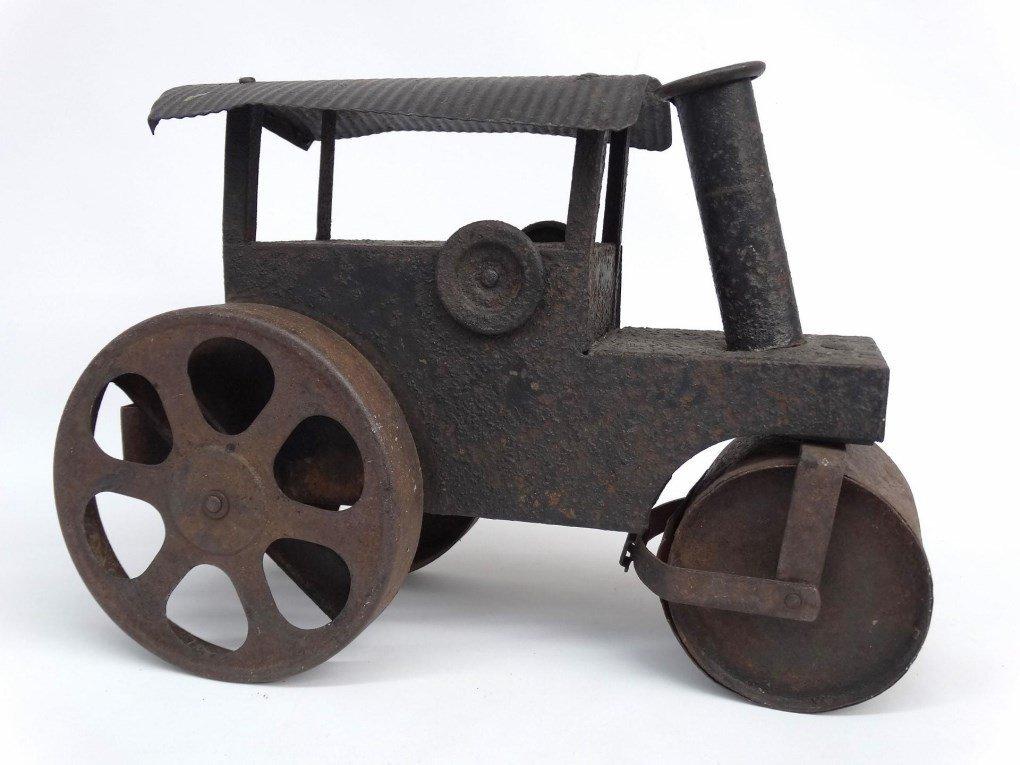Pressed Steel Toy Steam Roller - 3