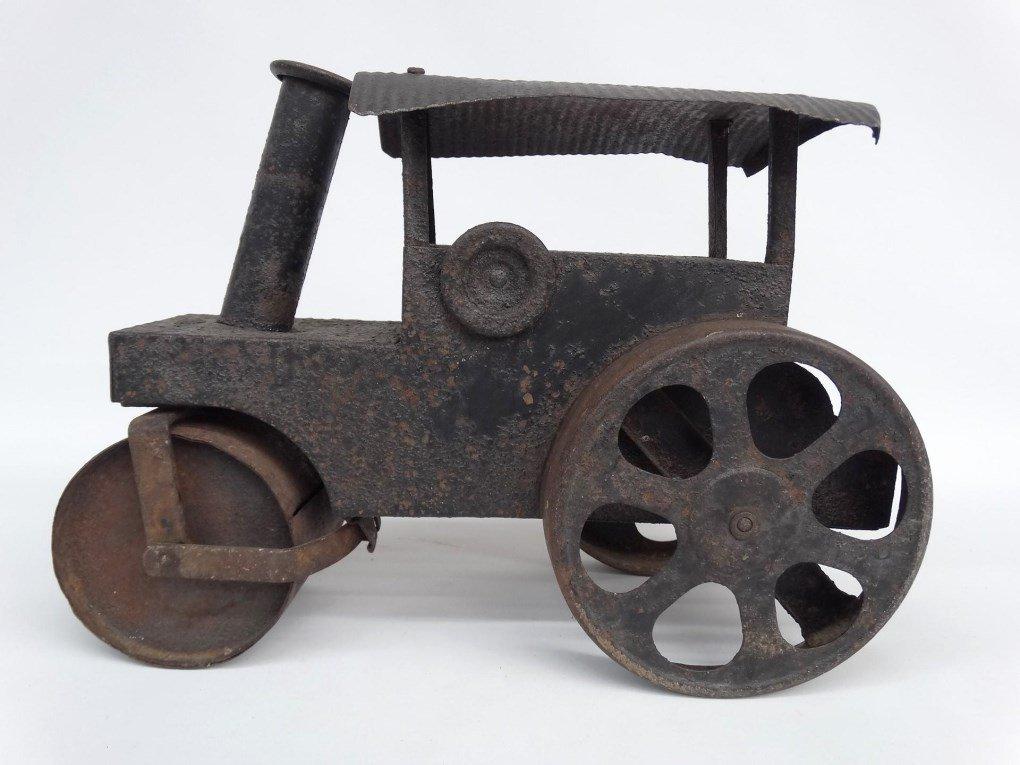 Pressed Steel Toy Steam Roller - 8