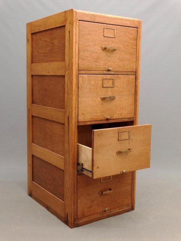 Oak File Cabinet - 3
