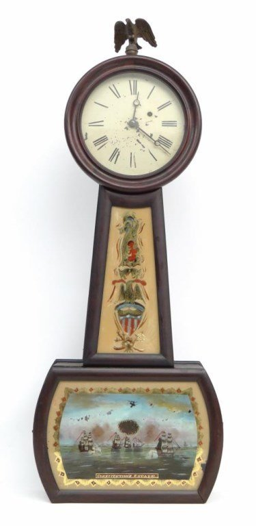 19th c. Banjo Clock