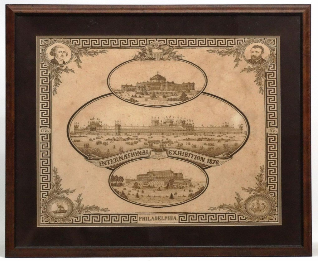 19th c. Philadelphia 1876 Exhibition Textile