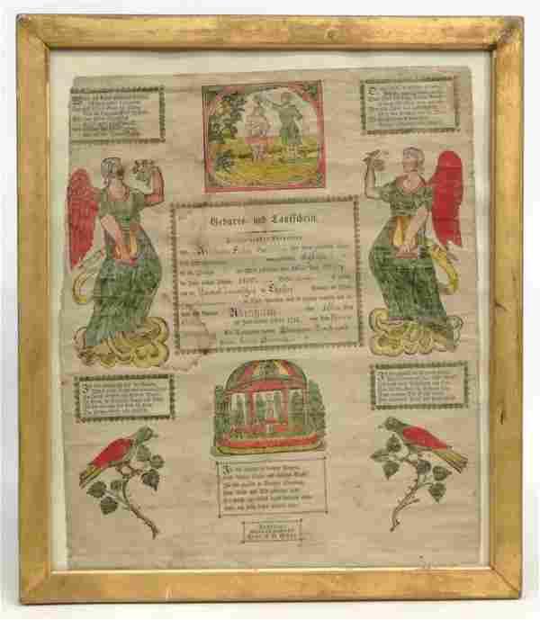 19th c. Penna. Taufschein
