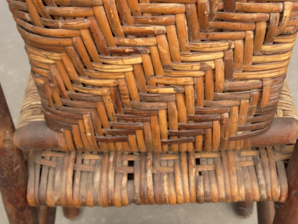 Pair Old Hickory Side Chairs - 6