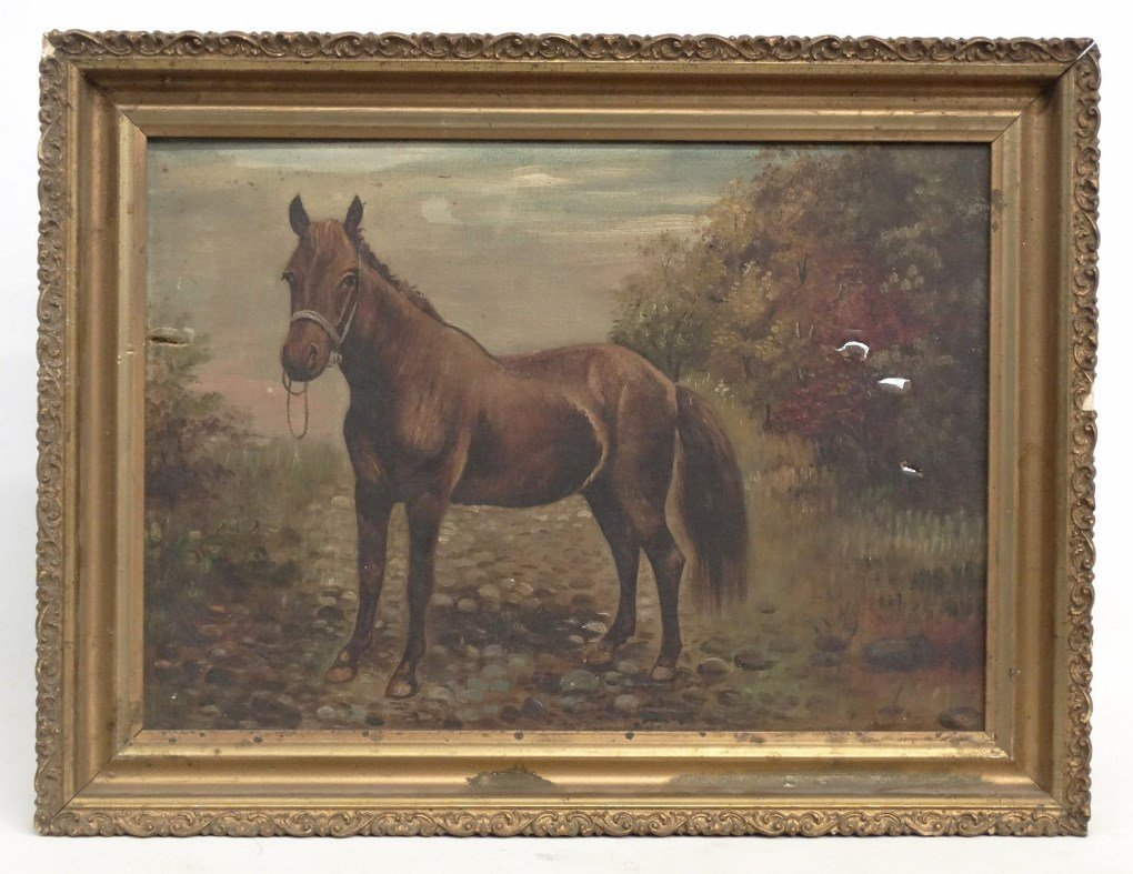 American School, Portrait Of A Horse
