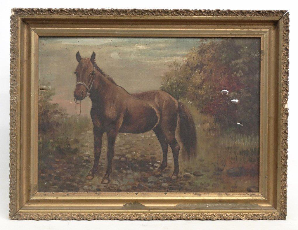 American School, Portrait Of A Horse