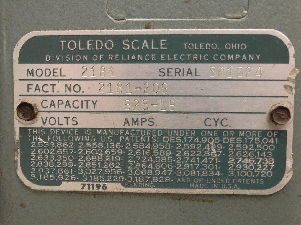 Toledo Scale - 6