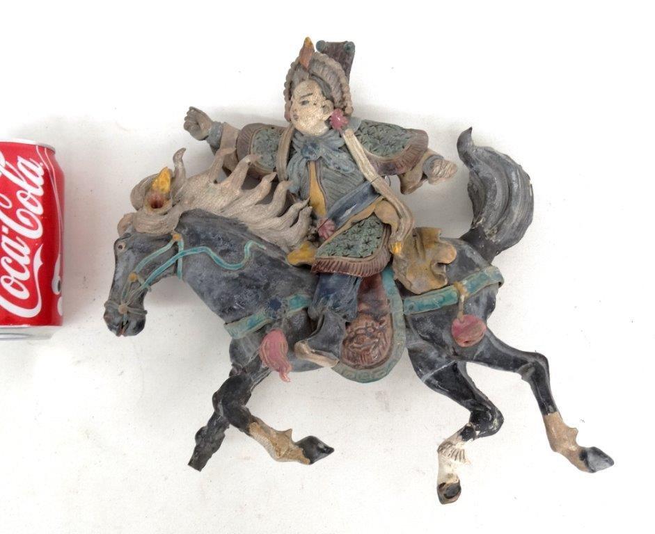 Chinese Pottery Figure On Horseback
